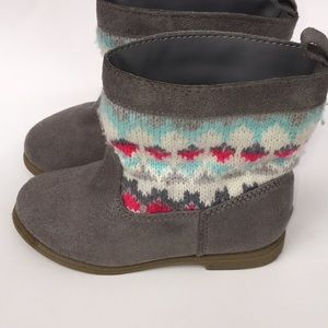 🎈4/$20 Gymboree Gray Boots with Knitted Fabric